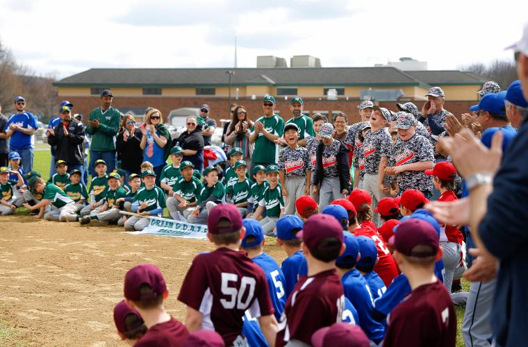 8cd79cd12 ... a pitch during Major Division action Saturday as the Mohawk Youth League  held Opening Day festivities in Buckland. The Brewers defeated Ashfield