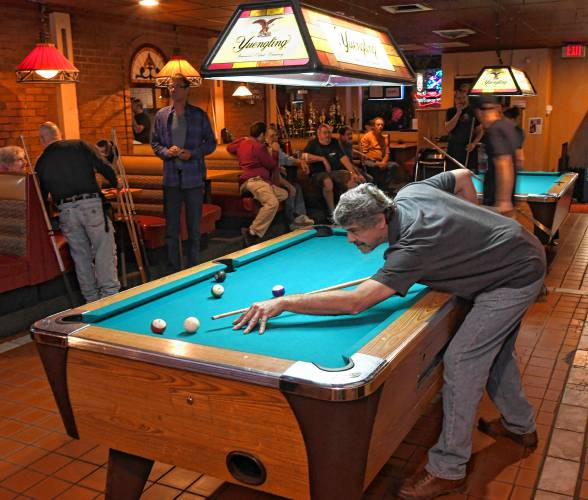 A Thursday Night Meet Up Of The Franklin County Pool League At Main Street  Bar U0026 Grille In Greenfield. Staff Photo/PAUL FRANZ