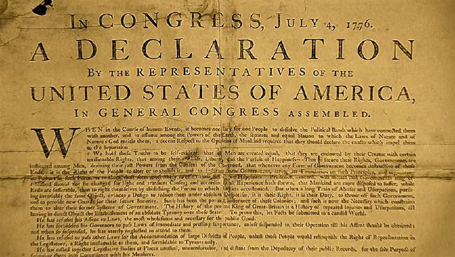 the recorder rare copy of declaration of independence on display
