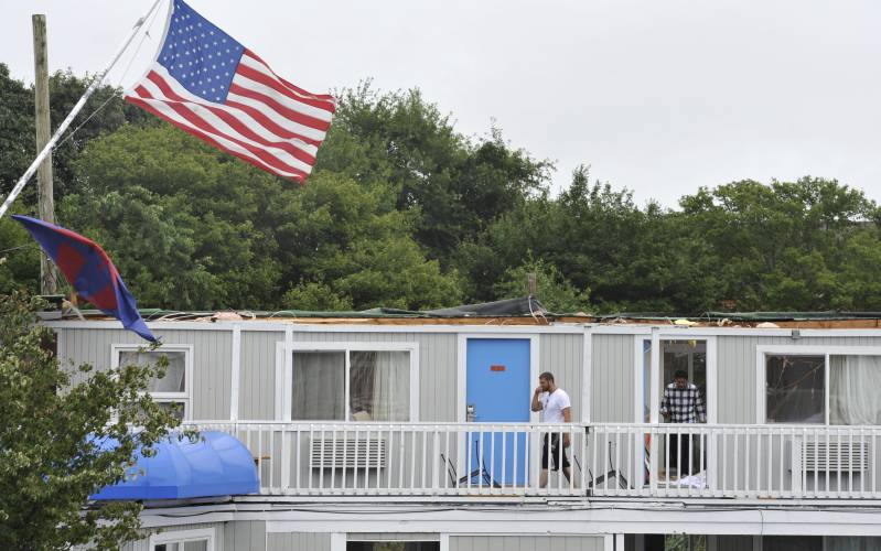 The Recorder - Roof torn off Cape Cod hotel as high winds