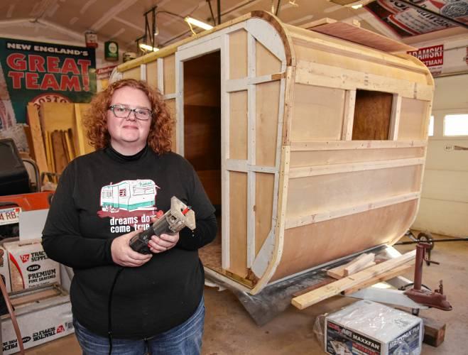 The Recorder - Ashfield couple rebuilding vintage camper