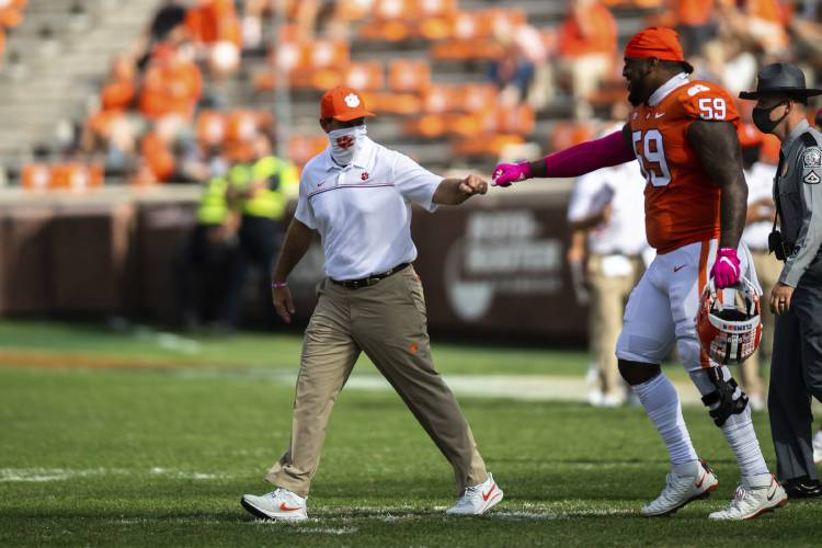 The Recorder - No. 1 Clemson dealing with rash of injuries ...