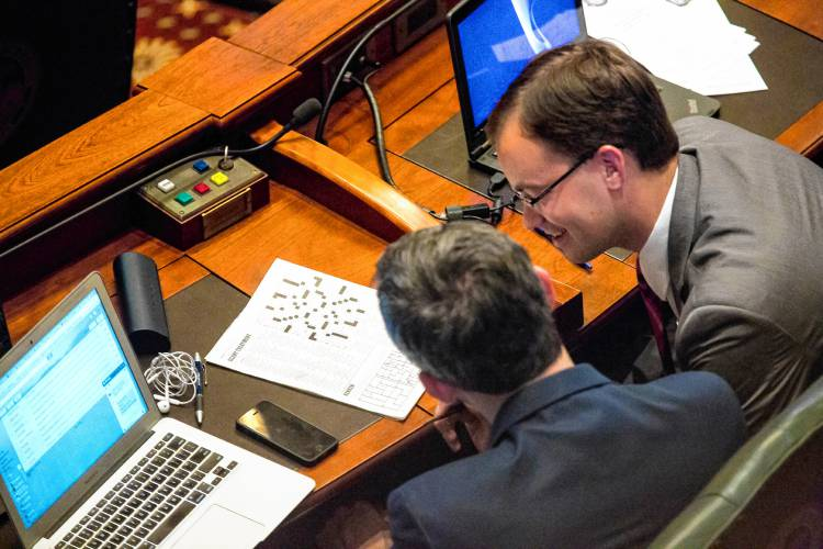 The recorder illinois house approves state budget ends historic david olsen r downers grove work on a puzzle on the house floor while the state capitol is on lockdown during a hazardous materials incident thursday malvernweather Gallery