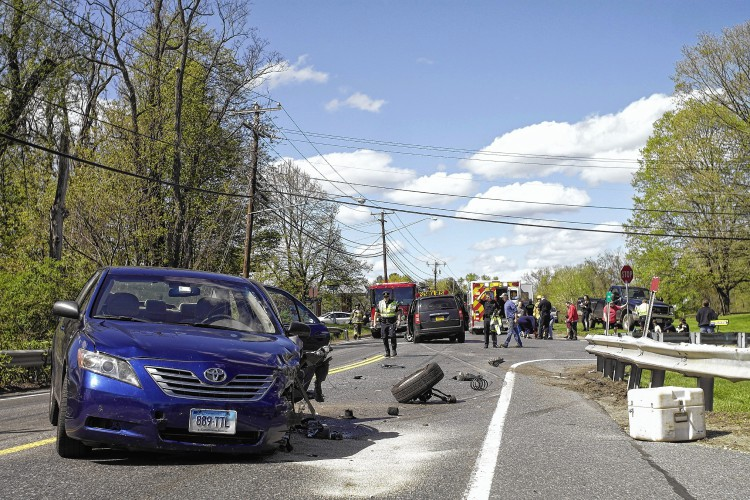 The Recorder Deerfield Crash Sends 3 To Hospital