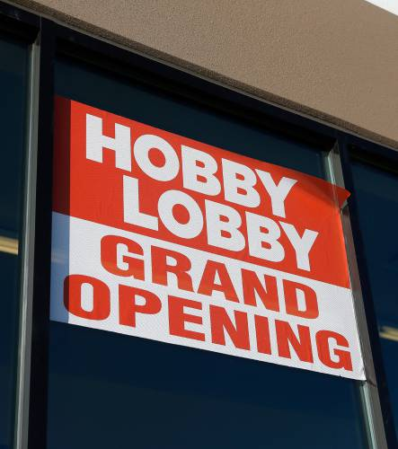 hobby lobby held its grand opening at the north quabbin commons in athol on new years day monday jan 1 2017 recorder staffdan little - Hobby Lobby Day After Christmas Sales