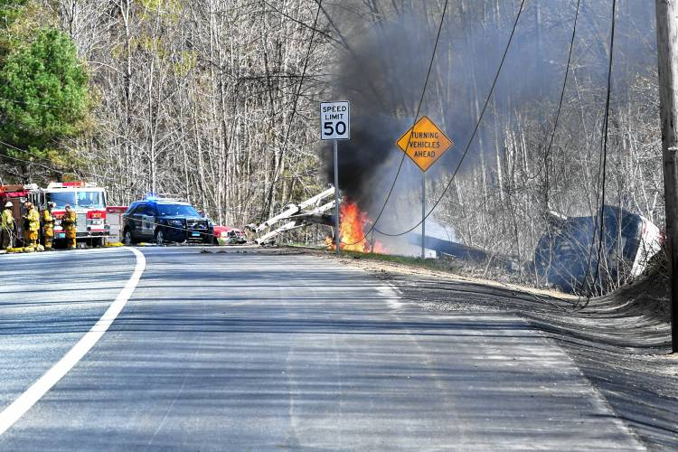 The Recorder - UPDATE: Single-vehicle accident downed utility lines