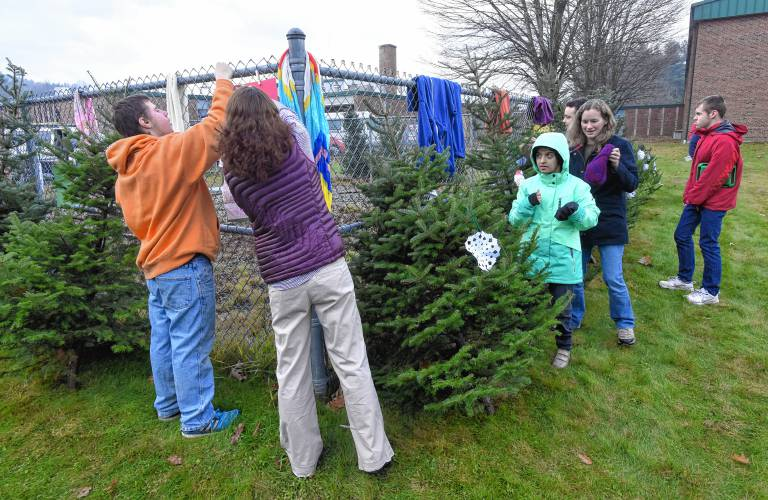 the mary lyon foundation is sponsoring a free warm clothing and christmas tree pickup at their location at the mohawk trail regional school