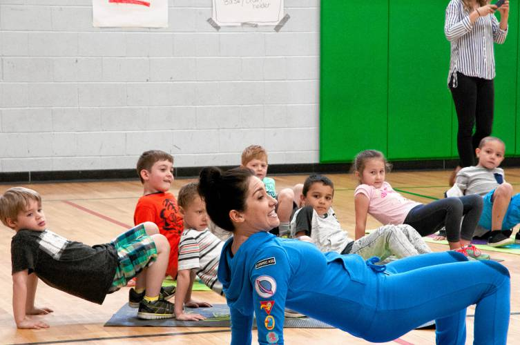 The Recorder Cosmic Kids Yoga Star Surprises Local Students