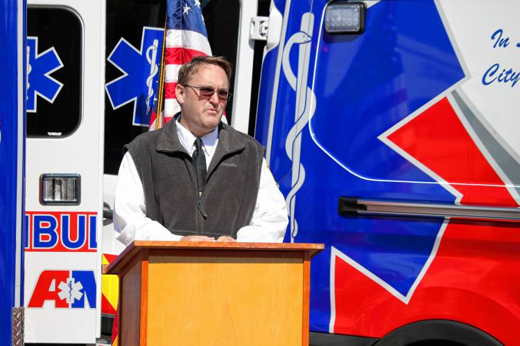 AMR, Greenfield hold dedication ceremony for new ambulances