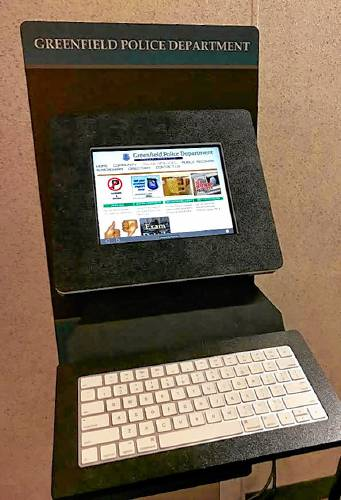The Recorder - Computer kiosk helps public, Greenfield