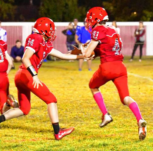 The Recorder - Turners survives shootout with Red Raiders, 35-26